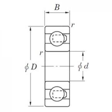 12 mm x 28 mm x 8 mm  KOYO NC6001 deep groove ball bearings