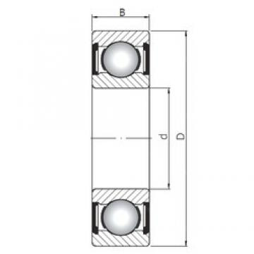 190 mm x 290 mm x 46 mm  ISO 6038 ZZ deep groove ball bearings