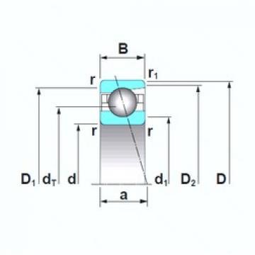 45 mm x 68 mm x 12 mm  NSK 7909A5TRSU angular contact ball bearings
