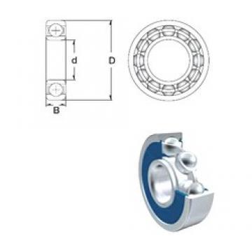 15,875 mm x 40 mm x 12 mm  ZEN 6203-2RS 5/8 deep groove ball bearings