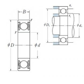 85 mm x 180 mm x 41 mm  NSK 6317ZZ deep groove ball bearings
