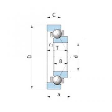NSK BA210-10 angular contact ball bearings