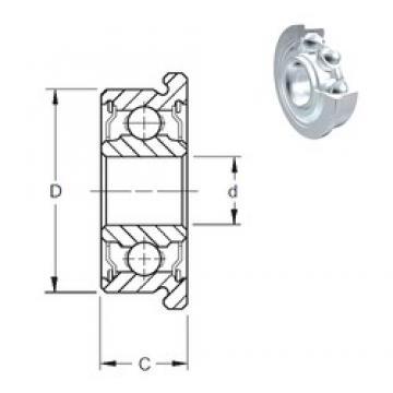 2 mm x 5 mm x 2,3 mm  ZEN F682-2Z deep groove ball bearings