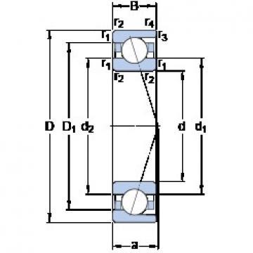 170 mm x 260 mm x 42 mm  SKF 7034 ACD/HCP4A angular contact ball bearings