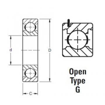 40 mm x 80 mm x 18 mm  Timken 208KG deep groove ball bearings