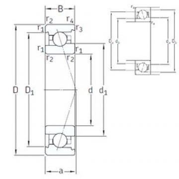 40 mm x 68 mm x 15 mm  SNFA VEX 40 /NS 7CE1 angular contact ball bearings