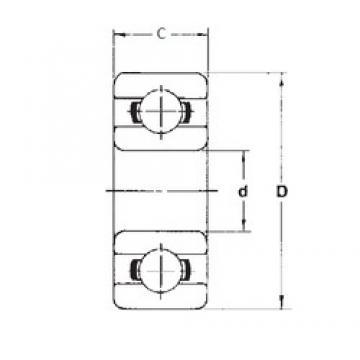 8 mm x 19 mm x 6 mm  FBJ 698ZZ deep groove ball bearings